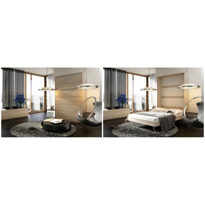 Armoire lit escamotable achat vente lit escamotable armoire lit escamotab - Lit escamotable cdiscount ...