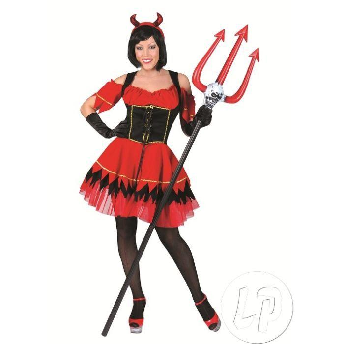costume diable rouge noir femme t36 38 achat vente d guisement panoplie cdiscount. Black Bedroom Furniture Sets. Home Design Ideas
