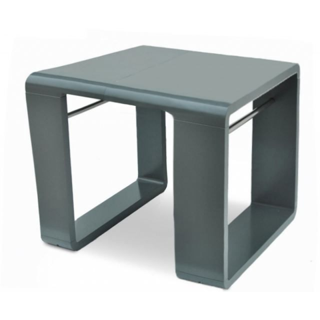 Table extensible jenny 120 a 180cm laquee gris achat vente table manger - Meuble table extensible ...