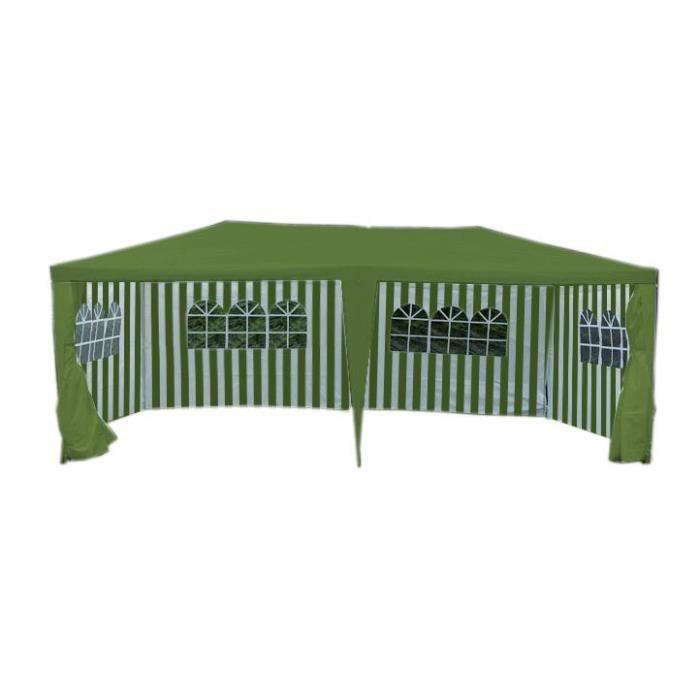 Tente de r ception de jardin vert 3 x 6 m achat vente abri jardin chalet tente de - Abri jardin vert orleans ...