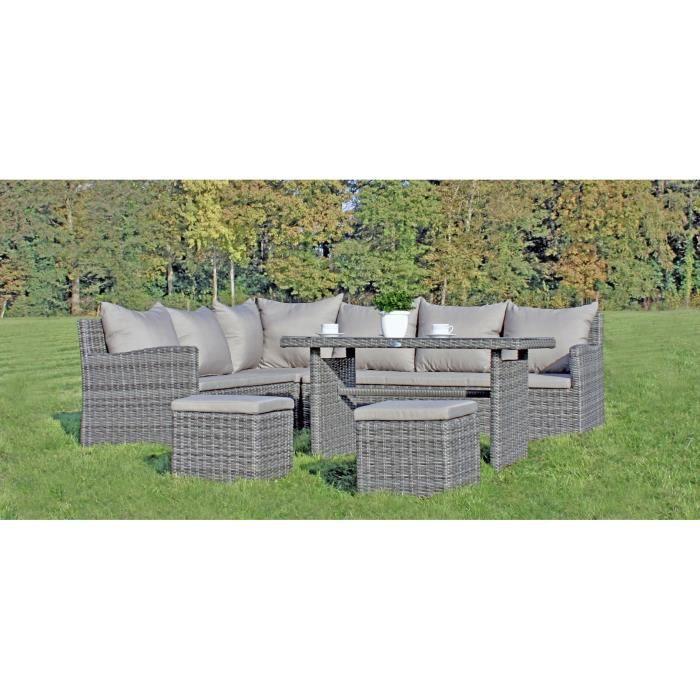 salon de jardin en resine tress e gris oviedo achat vente salon de jardin salon de jardin en. Black Bedroom Furniture Sets. Home Design Ideas