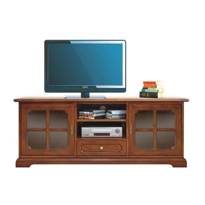 meuble tv bas classique portes crois es achat vente meuble tv meuble tv bas classique. Black Bedroom Furniture Sets. Home Design Ideas