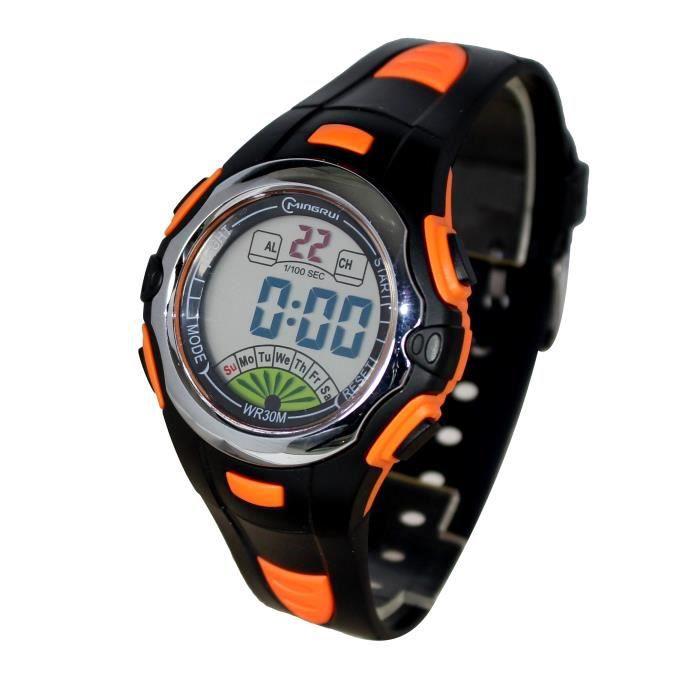 montre homme sport digitale quartz etanche chrono alarme sport achat vente montre gar on. Black Bedroom Furniture Sets. Home Design Ideas
