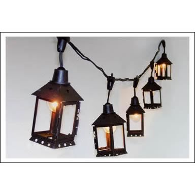 lanterne m tal carr 12 ampoules e14 5 m achat vente. Black Bedroom Furniture Sets. Home Design Ideas