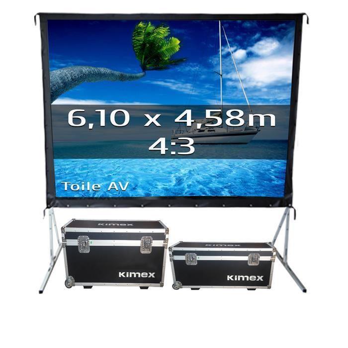 ecran de projection valise 6 10 x 4 58 m format 4 3. Black Bedroom Furniture Sets. Home Design Ideas