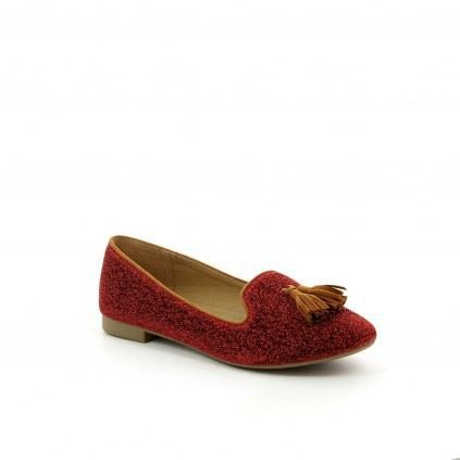 Chaussure femme Mocassin PAILLY Rouge Achat / Vente Chaussure femme