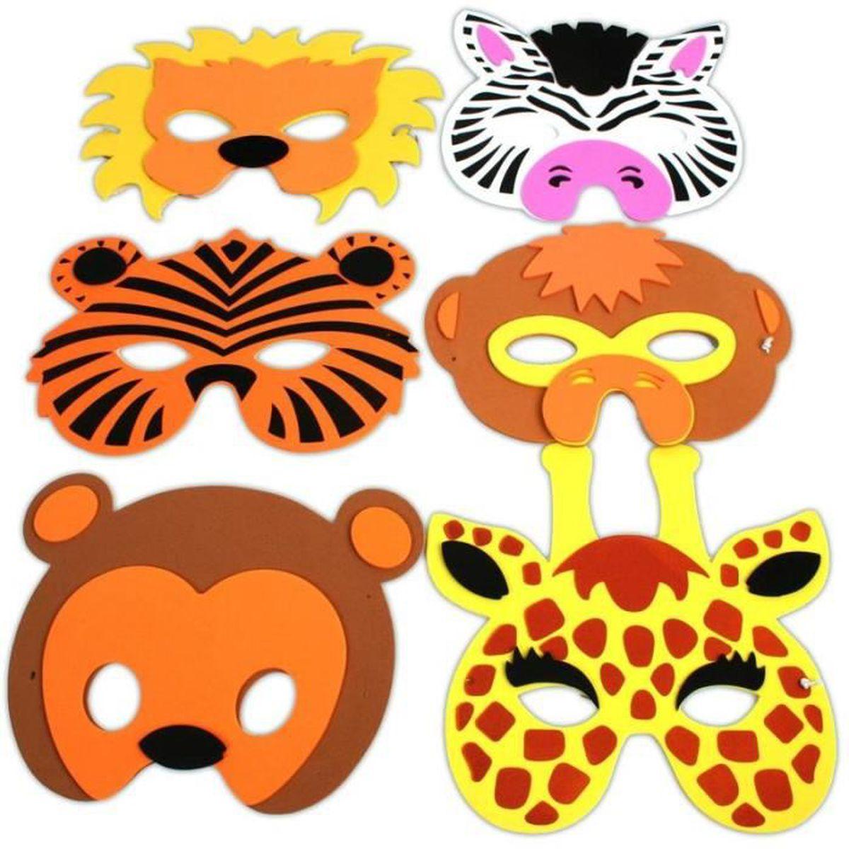 masques animaux pour enfants achat vente jeux et jouets pas chers. Black Bedroom Furniture Sets. Home Design Ideas