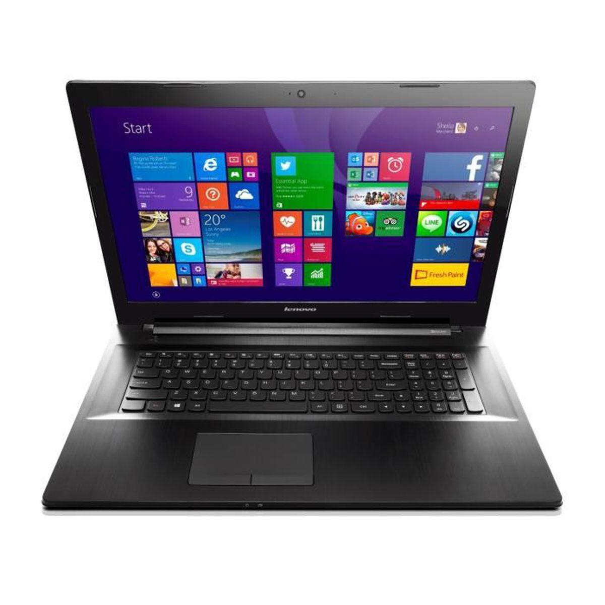 lenovo z70 80 ordinateur portable 17 3 39 39 noir m tal prix pas cher cdiscount. Black Bedroom Furniture Sets. Home Design Ideas