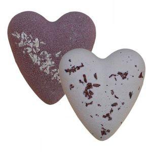 BAIN MOUSSANT - HUILE Duo de Coeurs de bain effervescents - Chocolat Noi
