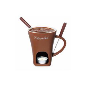 SERVICE À FONDUE Service à fondue au chocolat Tasse braun 3 pièces