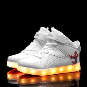 BASKET Mode enfants 7 Couleu Chaussures LED Lumineux Chau