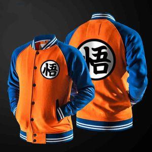 Dragon Ball Z Kame symbole Orange zipp/ée /à capuche Adulte