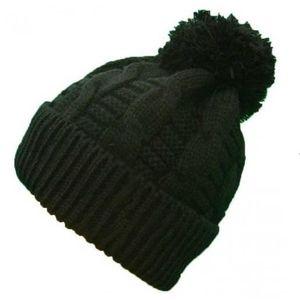 bonnet a pompon noir femme achat vente bonnet a pompon noir femme pas cher cdiscount. Black Bedroom Furniture Sets. Home Design Ideas