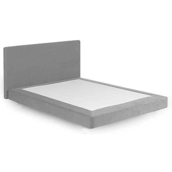 Alitea deco sommier deco et t te de lit deco gris 160x200 achat vente lit complet alitea - Soldes tete de lit ...