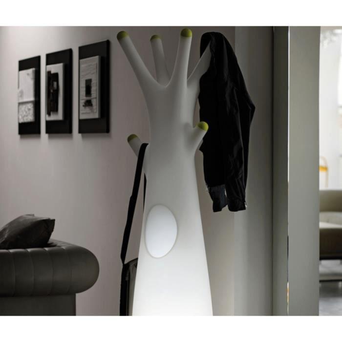 Porte manteau forme arbre lumineux roger taupe pointes blanches sans clairag - Porte manteau forme arbre ...