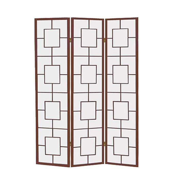 paravent en bois achat vente paravent en bois pas cher cdiscount. Black Bedroom Furniture Sets. Home Design Ideas