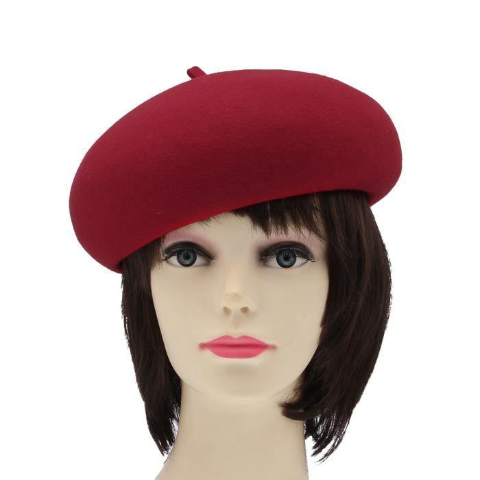b ret femme chapeau bonnet rouge100 cachemire rouge. Black Bedroom Furniture Sets. Home Design Ideas