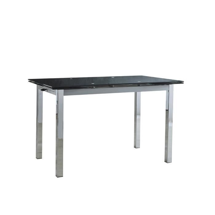 Table repas extensible kiara 120 180 x 80 x 75 cm for Table extensible 75 x 75