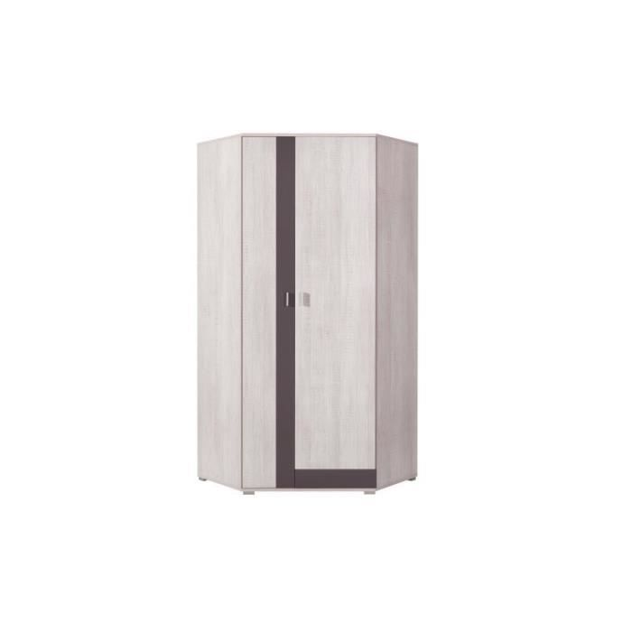armoire d angle joy gris achat vente armoire de. Black Bedroom Furniture Sets. Home Design Ideas