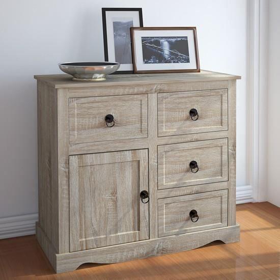 commode avec 4 tiroirs et une porte achat vente commode de chambre commode avec 4 tiroirs et. Black Bedroom Furniture Sets. Home Design Ideas