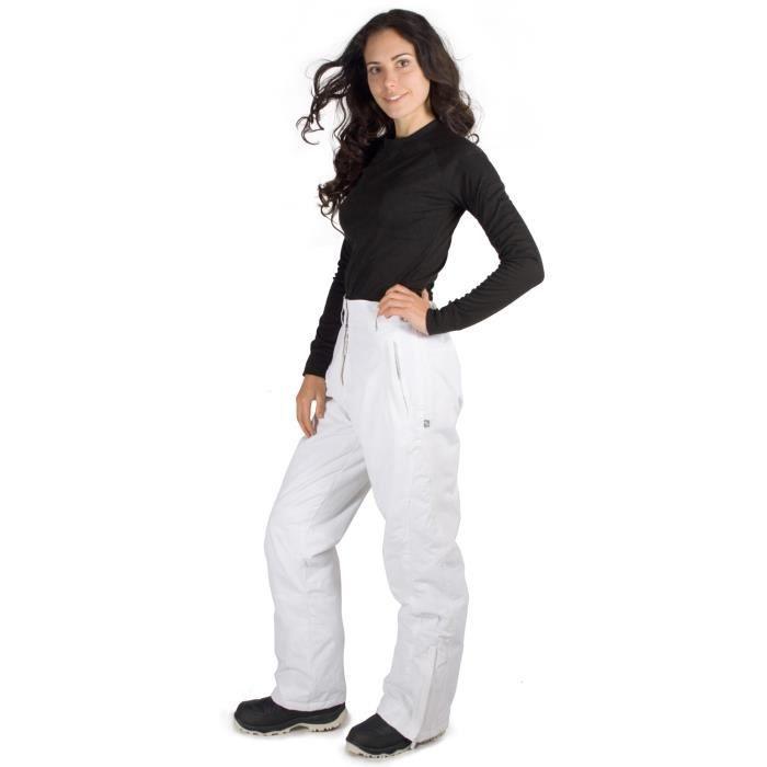 veil pantalon de ski snowboard salopette pour femme blanc. Black Bedroom Furniture Sets. Home Design Ideas