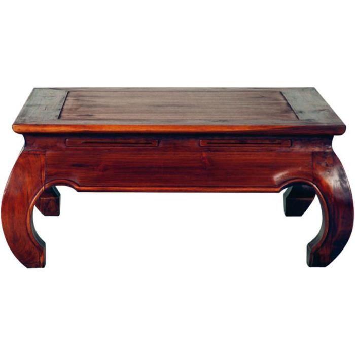 Table basse opium carr e en teck massif dim l achat for Table basse opium carree