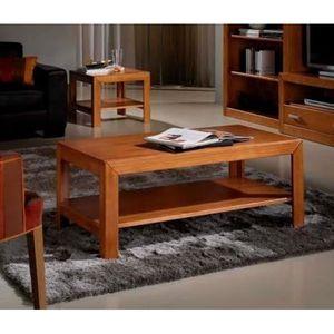 Table basse bois massif achat vente pas cher cdiscount - Salon en bois massif ...
