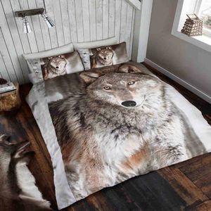 Loups housse de couette achat vente loups housse de - Housse de couette loup ...