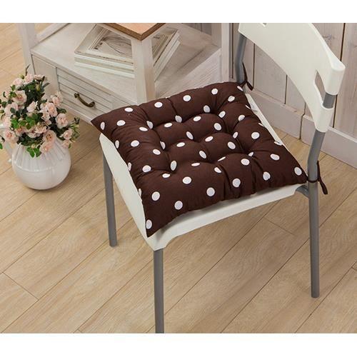 1 galettes de chaise coussin de chaise assise matelass e en pois double 40x40cm caf. Black Bedroom Furniture Sets. Home Design Ideas