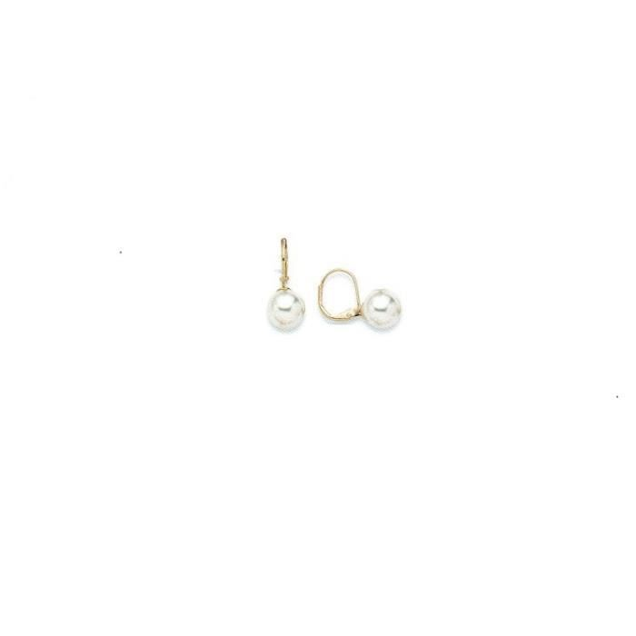 boucle d 39 oreille dormeuse plaque et perle 10 mm achat. Black Bedroom Furniture Sets. Home Design Ideas