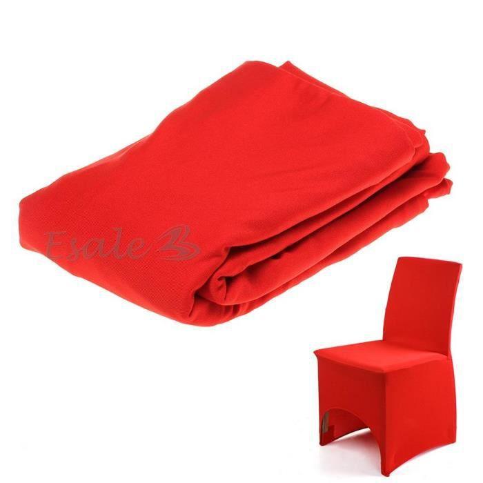 Housse de chaise rouge extensible d co mariage for Housse de chaise extensible
