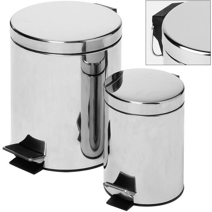 2x poubelle p dale 10l 3l cuisine et salle de bain for Poubelle salle de bain inox