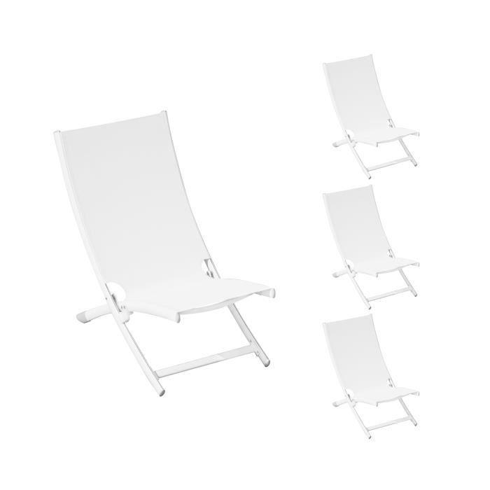relax copacabana blanc lot de 4 achat vente fauteuil jardin relax copacabana blanc lot. Black Bedroom Furniture Sets. Home Design Ideas