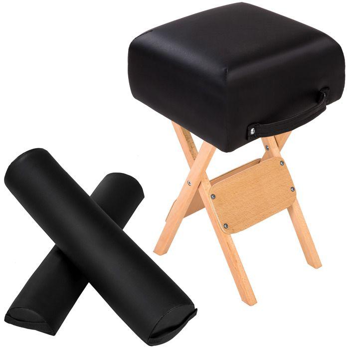 Set d 39 accessoires table de massage noir tectake achat vente table de - Accessoires de massage ...