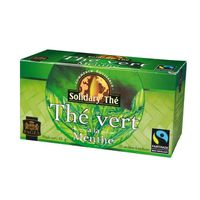 PAGES - Solidary Thé, 25 sachets Thé vert Menthe