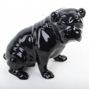 Statuette de chien Mystery - Dolomite - Noir