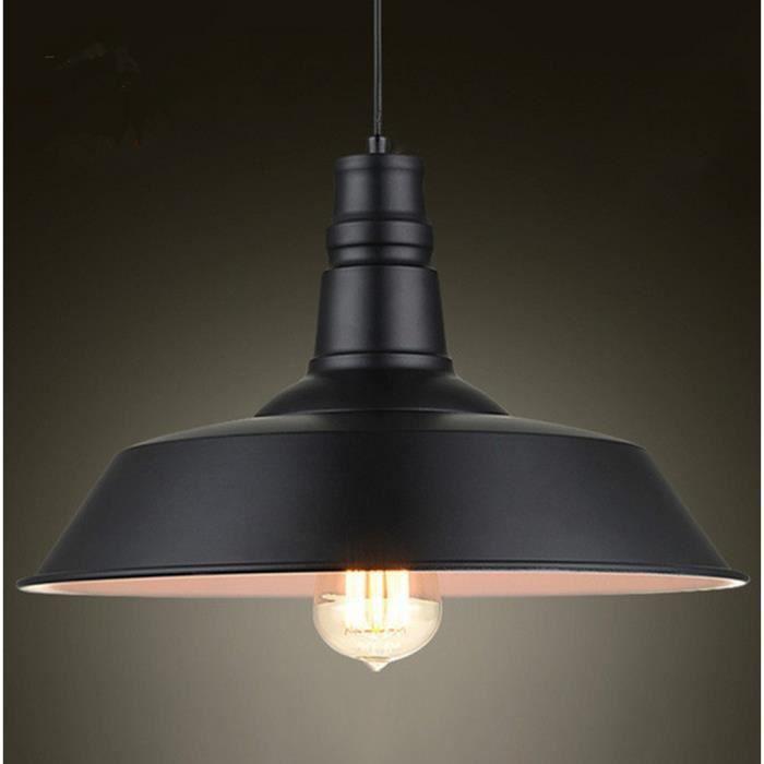 Metal retro suspensions luminaire industriel style plafonnier lustre noir pla - Suspension luminaire style industriel ...