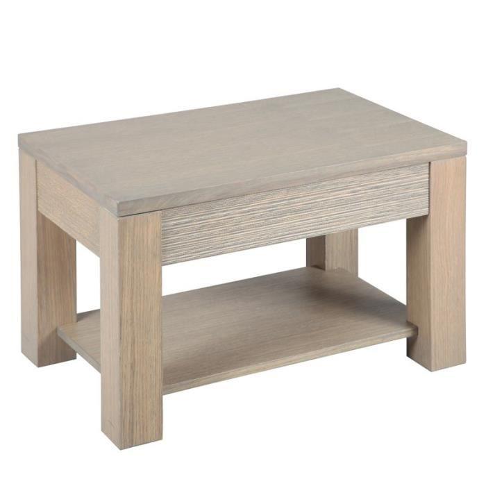 bout de canap ch ne gris oaky achat vente table. Black Bedroom Furniture Sets. Home Design Ideas