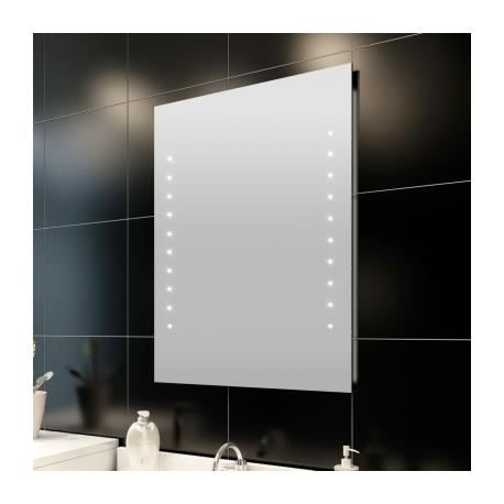 miroir de salle de bain avec clairage led 50 x 60 cml x h. Black Bedroom Furniture Sets. Home Design Ideas