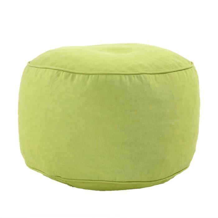 almeria pouf al 50x30 vert 23754751 achat vente pouf. Black Bedroom Furniture Sets. Home Design Ideas