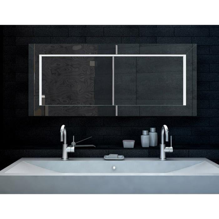 Aspect dimensionnel miroir de salle de bains avec for Miroir de salle de bain avec eclairage