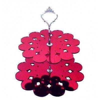 Forme napperon 2 de niveau rouge miroir acrylique stand for Miroir acrylique incassable