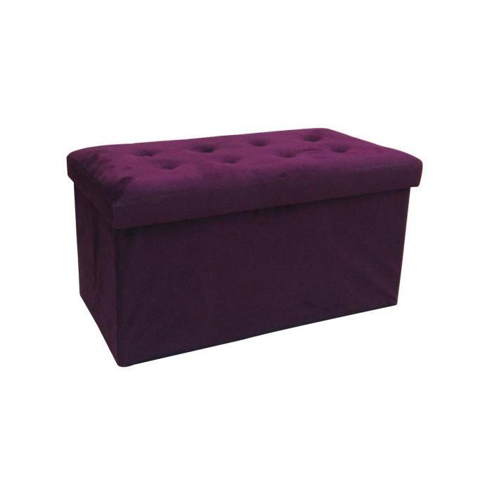 poufs coffre violet rectangulaire tissu concepcion achat vente pouf poire cdiscount. Black Bedroom Furniture Sets. Home Design Ideas
