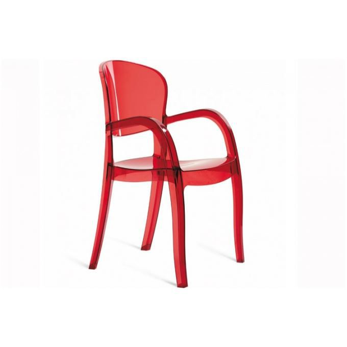 fauteuil rouge transparent victor achat vente chaise plexiglas polycarbonate cdiscount. Black Bedroom Furniture Sets. Home Design Ideas