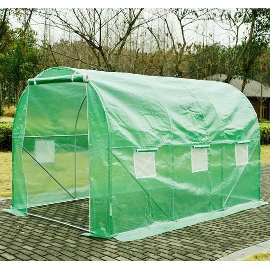 Serre de jardin tente tunnel structure en acier avec 6 - Vente de serre de jardin ...