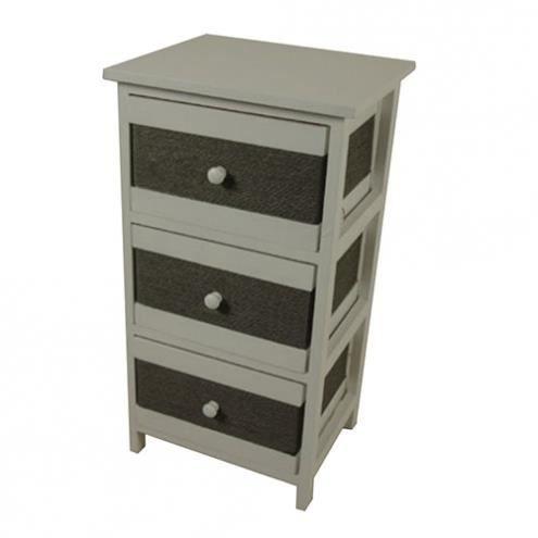 meuble blanc et gris helianthe achat vente petit