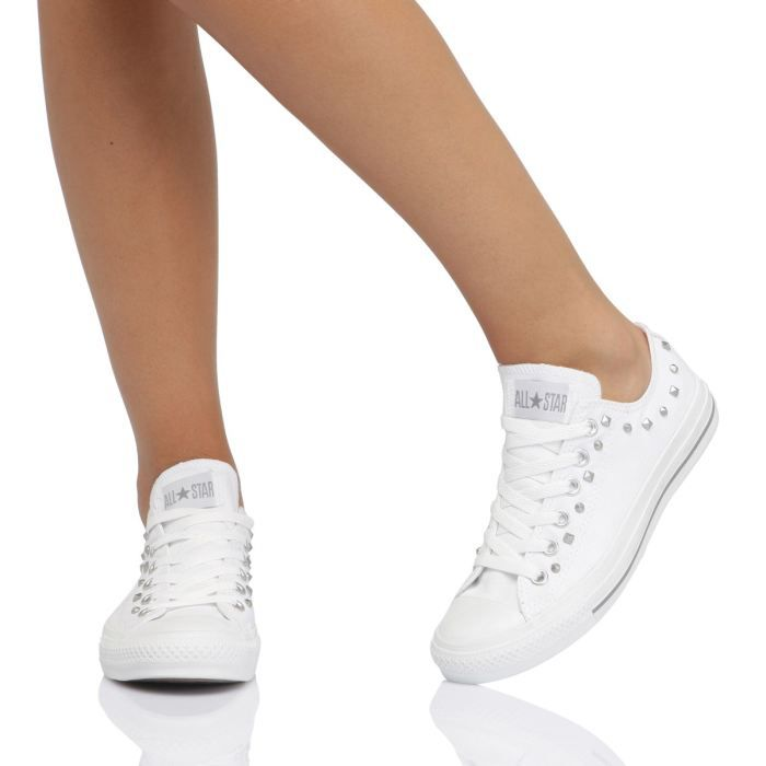 converse chuck taylor basse blanche femme
