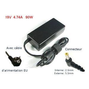 CHARGEUR - ADAPTATEUR  Adaptateur secteur - Chargeur PC Portable - 19V