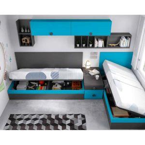 aqua lit coffre 90x190 cm rangements achat vente lit escamotable aqua lit coffre. Black Bedroom Furniture Sets. Home Design Ideas