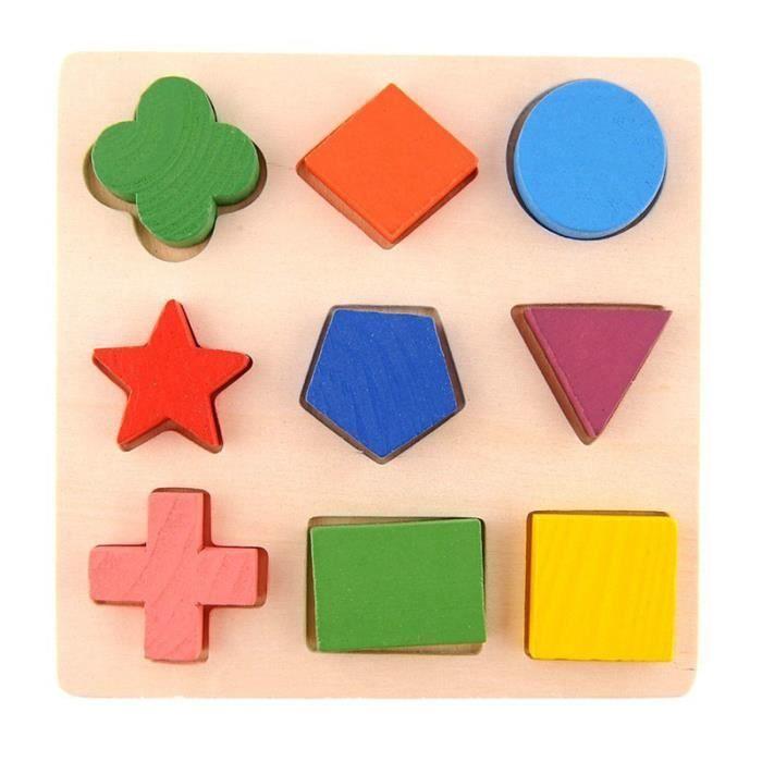 enfants d 39 apprentissage en bois pour b b geometry jouets ducatifs puzzle montessori. Black Bedroom Furniture Sets. Home Design Ideas